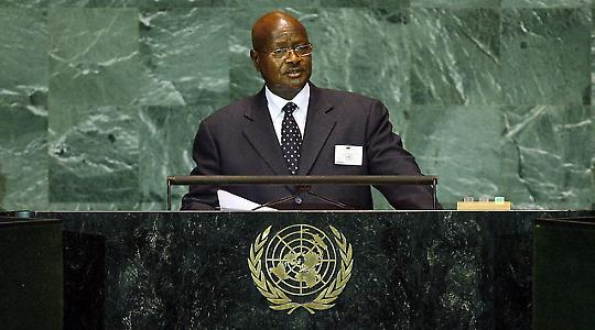 Yoweri Museveni vor der UN-Vollversammlung <br/>Foto von United Nations Photo