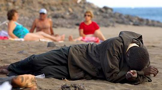 Bootsmigrant auf Fuerteventura 2006 <br/>Foto von noborder network