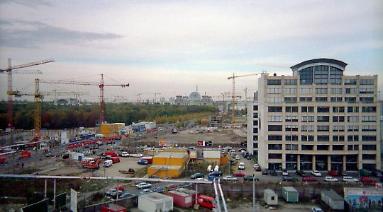 Leipziger Platz in Berlin 1999
