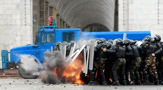 Kämpfe in der Hauptstadt im April <br/>Foto von kun530