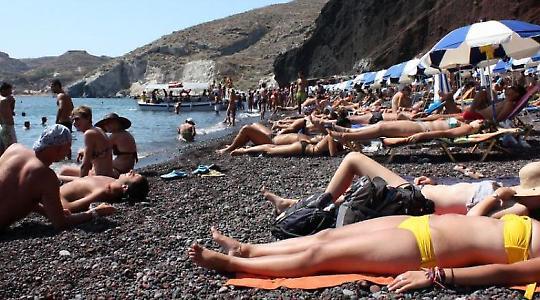 Wer ist faul im Staate Griechenland? <br/>Foto von Klearchos Kapoutsis