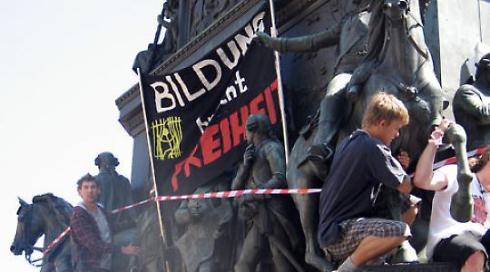 Bildungsproteste im Juni 2009 in Berlin