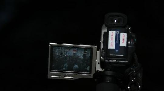 Bis jetzt filmt die Polizei auf Demonstrationen <br/>Foto von Björn Kietzmann