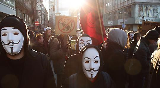 Proteste gegen ACTA in Frankfurt/Main
