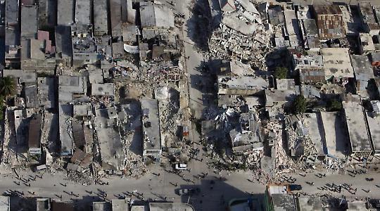 Zerstörtes Viertel <br/>Foto von UNDP