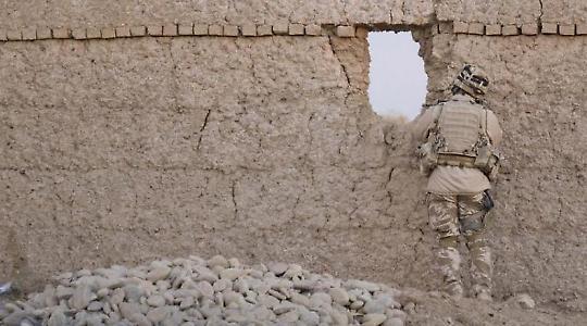 Britischer Soldat in Helmand <br/>Foto von ISAF