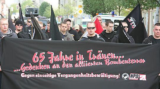 NPD-Kundgebung in Rathenow <br/>Foto von Björn Kietzmann