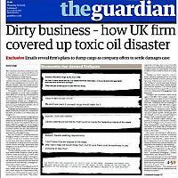 Zeitweilig verboten - Titel des Londoner Guardian vom 17.9.2009