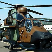 """Ein französischer Helikopter vom Typ """"Tiger"""" <br/>Foto von Rubbel"""