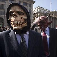 Proteste im Finanzdistrikt bei der G20 2009 <br/>Foto von Subterranean Tourist Board