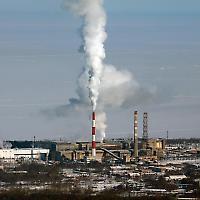 Papierfabrik am Baikalsee <br/>Foto von hegtor