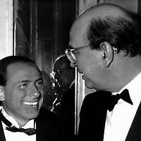 Silvio Berlusconi und sein Lehrmeister Bettino Craxi <br/>Foto von Hytok