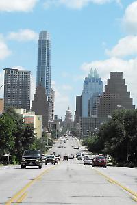 Nähe zur Macht: Das Stratfor-Hauptquartier rechts vom texanischen Kapitol in Austin