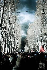 Schwarzer Rauch über Rom <br/>Foto von Cau Napoli